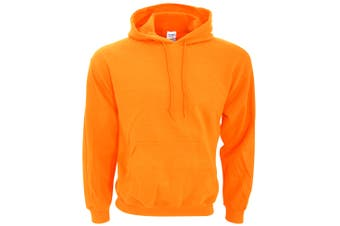 Gildan Heavy Blend Adult Unisex Hooded Sweatshirt / Hoodie (Safety Orange) (XL)