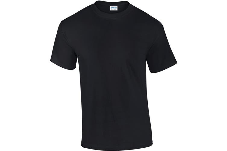 Gildan Mens Ultra Cotton Short Sleeve T-Shirt (Black) (XL)
