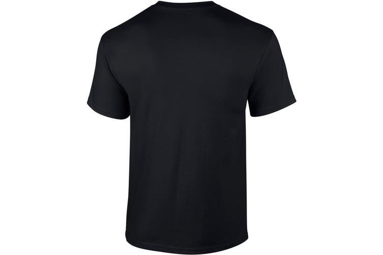 Gildan Mens Ultra Cotton Short Sleeve T-Shirt (Black) (2XL)