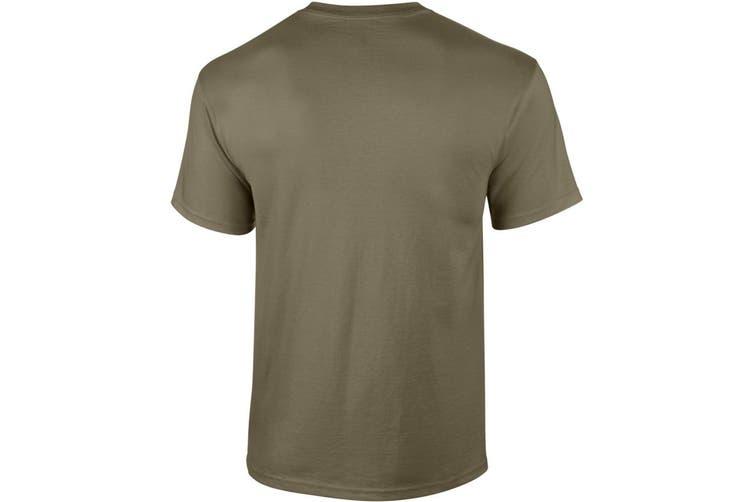 Gildan Mens Ultra Cotton Short Sleeve T-Shirt (Prarie Dust) (L)