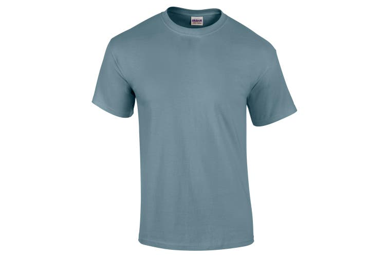 Gildan Mens Ultra Cotton Short Sleeve T-Shirt (Stone Blue) (2XL)