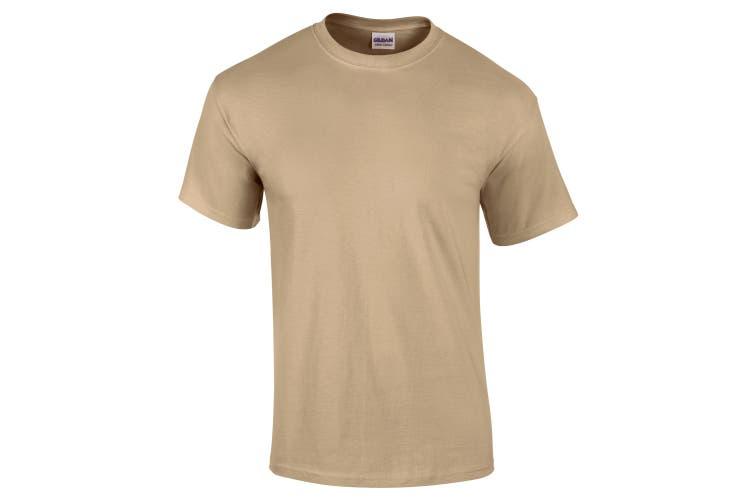 Gildan Mens Ultra Cotton Short Sleeve T-Shirt (Tan) (L)