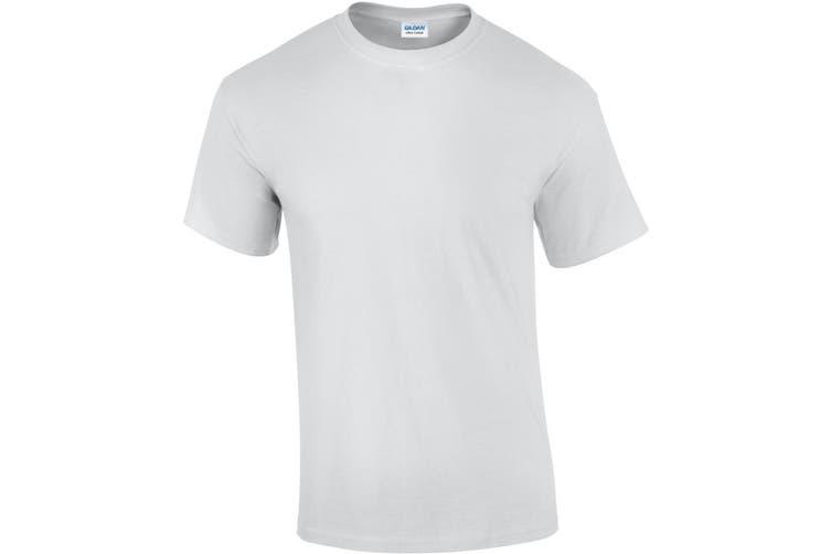 Gildan Mens Ultra Cotton Short Sleeve T-Shirt (White) (5XL)