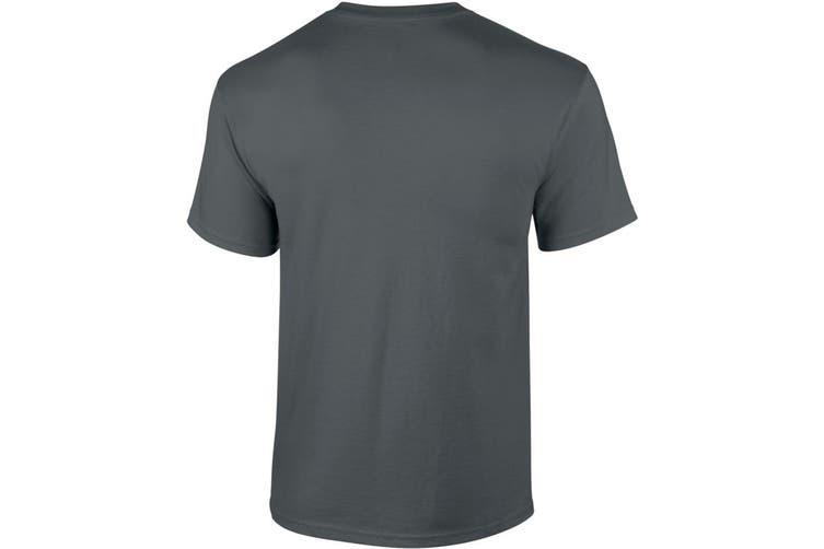 Gildan Mens Ultra Cotton Short Sleeve T-Shirt (Charcoal) (M)