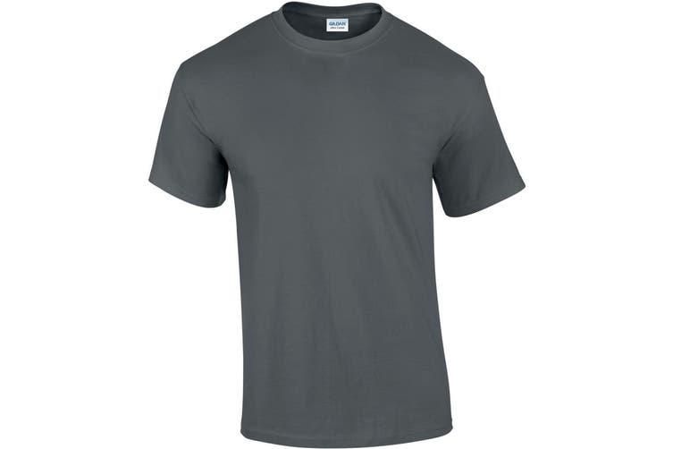 Gildan Mens Ultra Cotton Short Sleeve T-Shirt (Charcoal) (L)