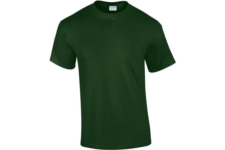 Gildan Mens Ultra Cotton Short Sleeve T-Shirt (Forest Green) (XL)