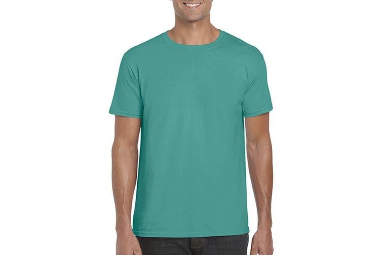 Gildan Mens Short Sleeve Soft-Style T-Shirt (Jade) (XXL)