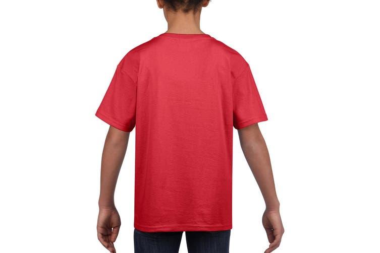 Gildan Childrens Unisex Soft Style T-Shirt (Red) (M)