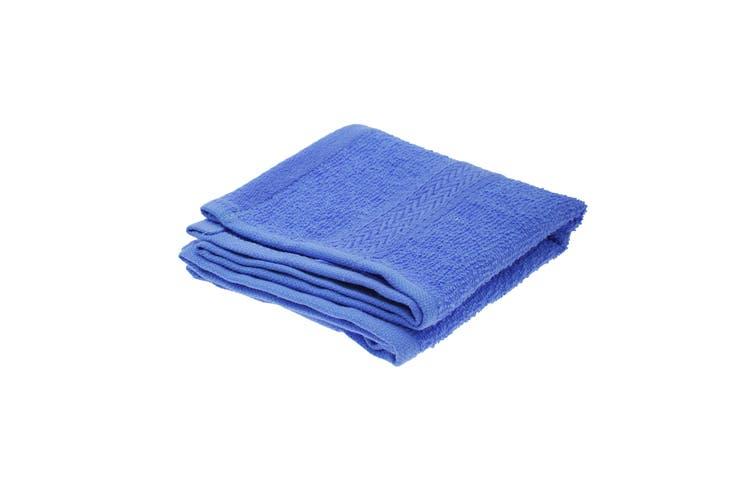 Jassz Plain Guest Hand Towel (350 GSM) (Royal) (One Size)