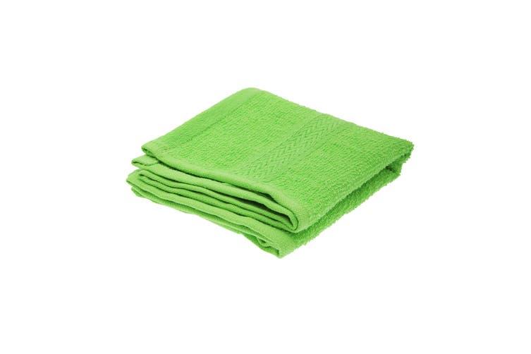 Jassz Plain Guest Hand Towel (350 GSM) (Bright Green) (One Size)