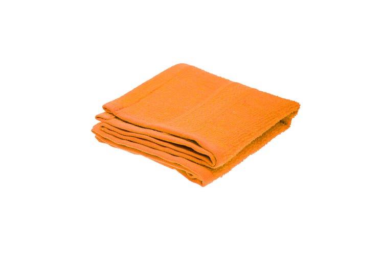 Jassz Plain Guest Hand Towel (350 GSM) (Bright Orange) (One Size)