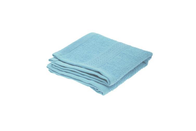 Jassz Plain Guest Hand Towel (350 GSM) (Light Blue) (One Size)