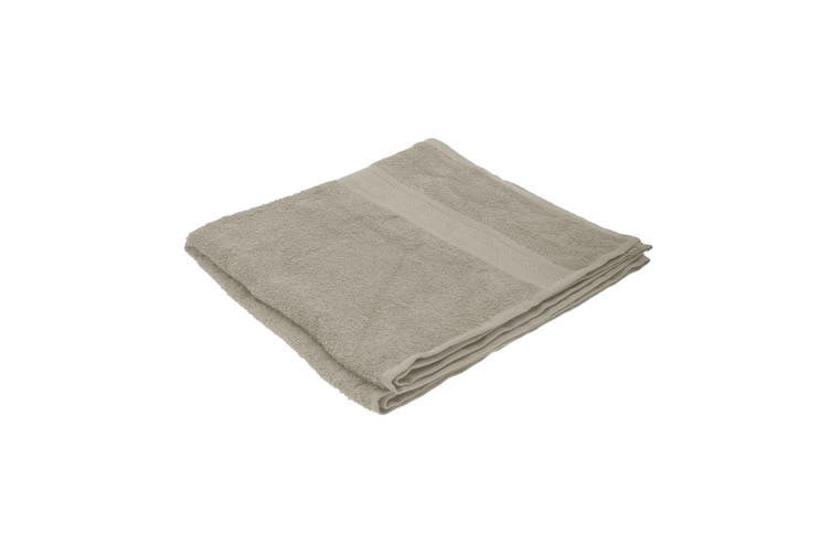 Jassz Plain Bath Towel 70cm x 140cm (350 GSM) (Sand) (One Size)