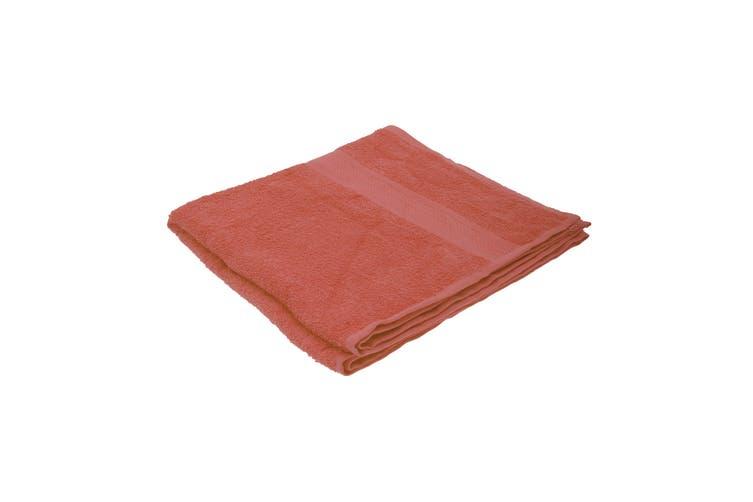 Jassz Plain Bath Towel 70cm x 140cm (350 GSM) (Terra) (One Size)