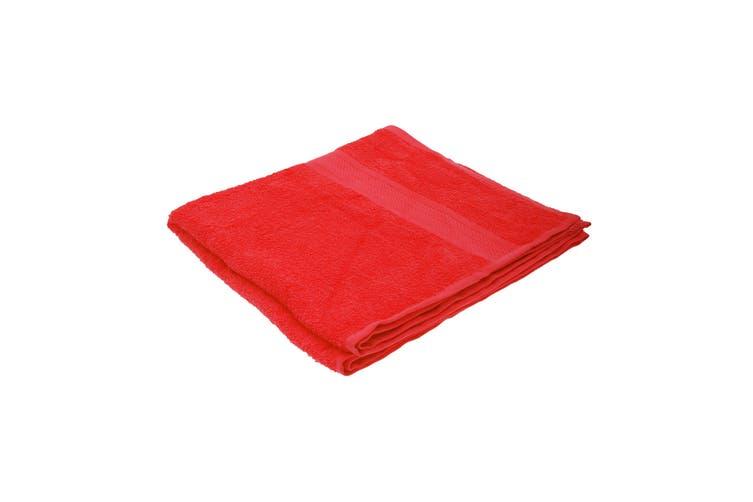 Jassz Plain Bath Towel 70cm x 140cm (350 GSM) (Red) (One Size)