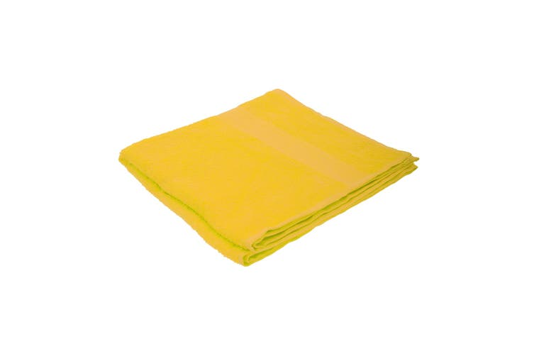 Jassz Plain Bath Towel 70cm x 140cm (350 GSM) (Bright Yellow) (One Size)