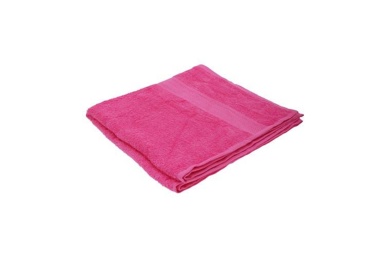 Jassz Plain Bath Towel 70cm x 140cm (350 GSM) (Fuchsia) (One Size)