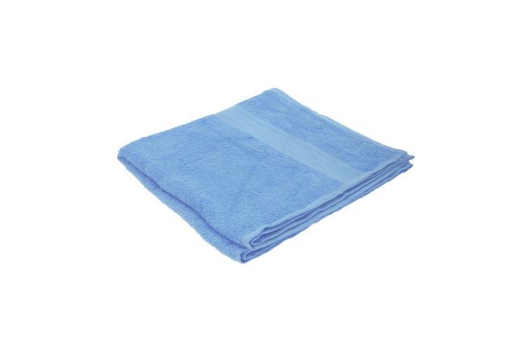 Jassz Plain Bath Towel 70cm x 140cm (350 GSM) (Light Blue) (One Size)