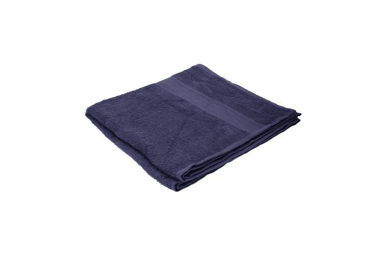 Jassz Plain Bath Towel 70cm x 140cm (350 GSM) (Navy Blue) (One Size)