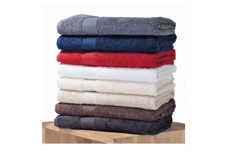 Jassz Premium Heavyweight Plain Towel 50cm x 100cm (550 GSM) (White) (One Size)