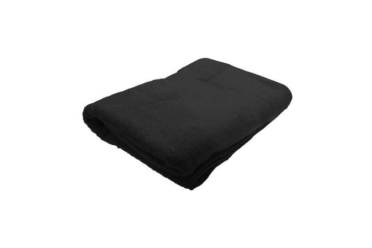 Jassz Premium Heavyweight Plain Big Towel / Bath Sheet (Black) (One Size)