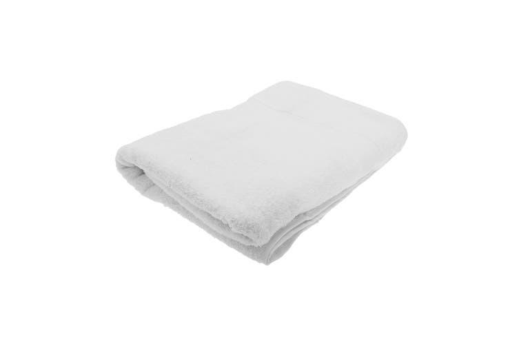 Jassz Premium Heavyweight Plain Big Towel / Bath Sheet (White) (One Size)
