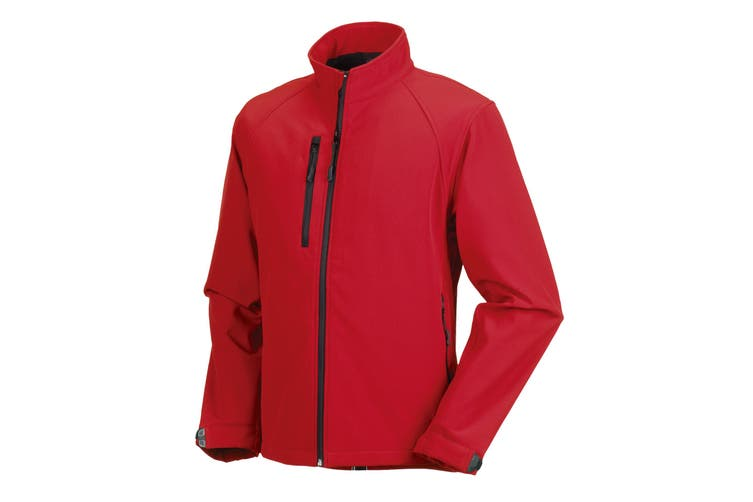 Russell Mens Water Resistant & Windproof Softshell Jacket (Classic Red) (S)