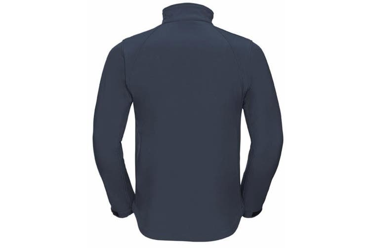 Russell Mens Water Resistant & Windproof Softshell Jacket (French Navy) (M)