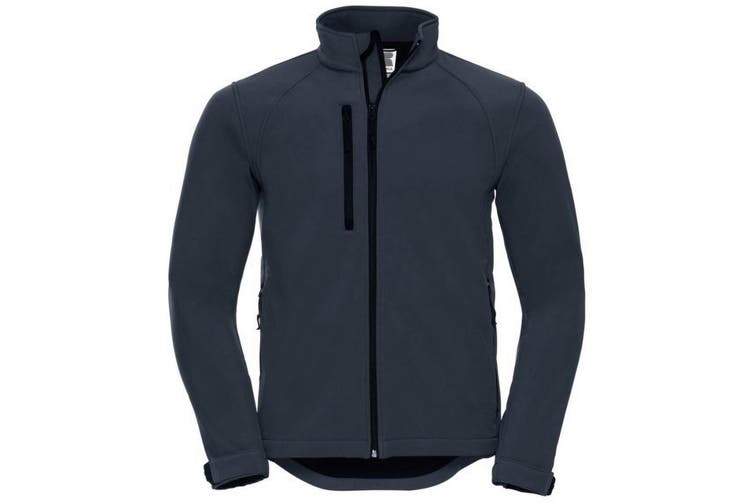 Russell Mens Water Resistant & Windproof Softshell Jacket (French Navy) (XL)