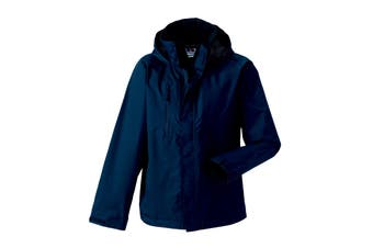 Jerzees Colours Mens Premium Hydraplus 2000 Water Resistant Jacket (French Navy) (XL)