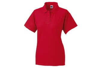 Jerzees Colours Ladies 65/35 Hard Wearing Pique Short Sleeve Polo Shirt (Classic Red) (L)