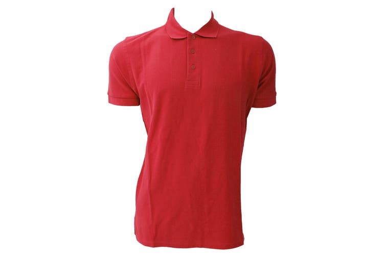 Jerzees Colours Mens Ultimate Cotton Short Sleeve Polo Shirt (Classic Red) (4XL)