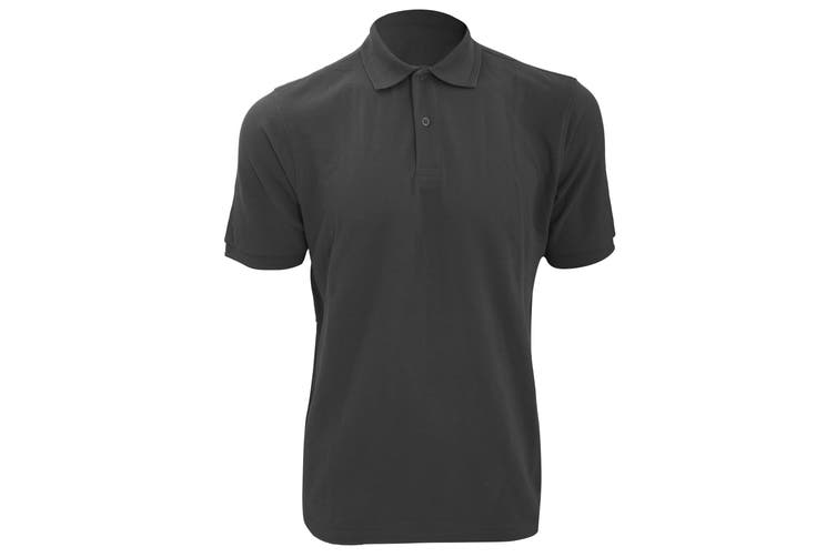 Russell Mens Ripple Collar & Cuff Short Sleeve Polo Shirt (Convoy Grey) (XS)