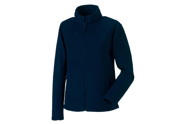 Russell Colours Ladies Full Zip Outdoor Fleece Jacket (French Navy) (S)
