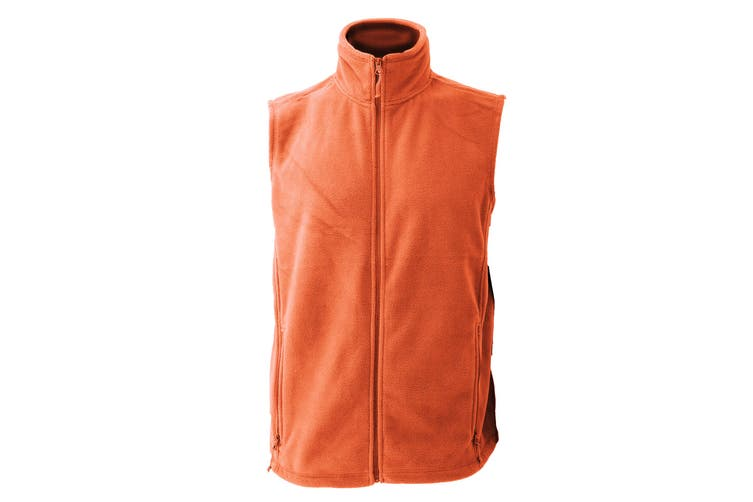 Jerzees Colour Fleece Gilet Jacket / Bodywarmer (Orange) (XS)