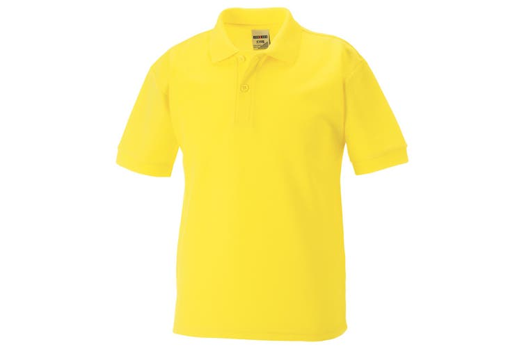 Jerzees Schoolgear Childrens 65/35 Pique Polo Shirt (Yellow) (9-10)