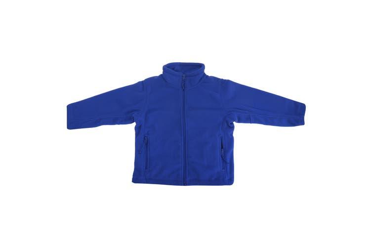 Jerzees Schoolgear Childrens Full Zip Outdoor Fleece Jacket (Bright Royal) (3-4)