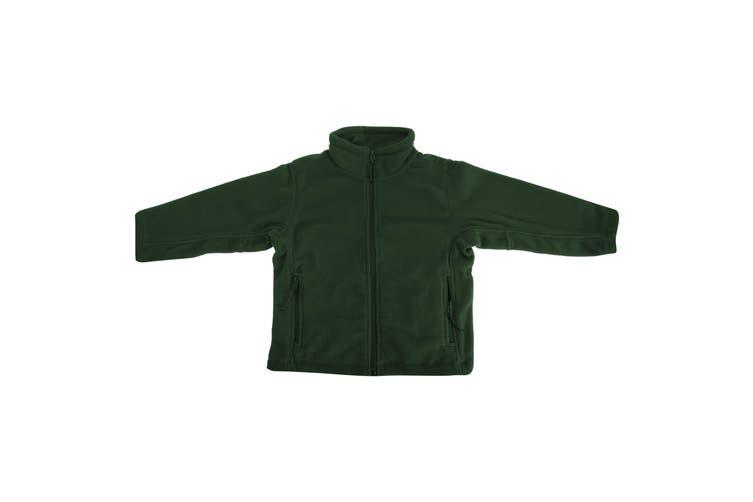 Jerzees Schoolgear Childrens Full Zip Outdoor Fleece Jacket (Bottle Green) (3-4)