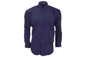Kustom Kit Mens Long Sleeve Corporate Oxford Shirt (Midnight Navy) (21inch)