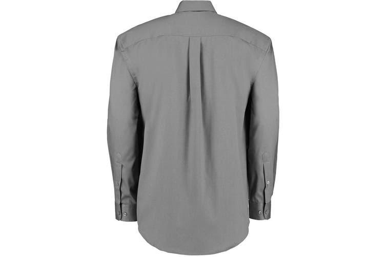 Kustom Kit Mens Long Sleeve Corporate Oxford Shirt (Charcoal) (23inch)