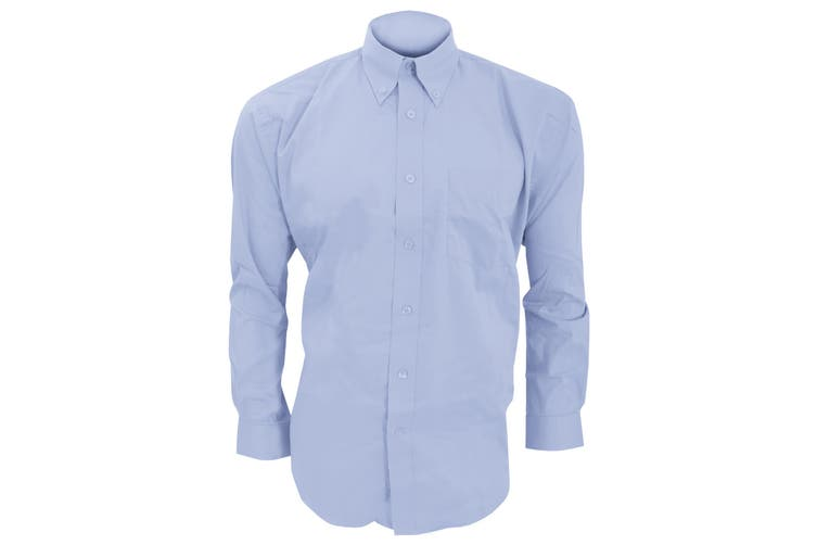Kustom Kit Mens Long Sleeve Corporate Oxford Shirt (Light Blue) (21inch)