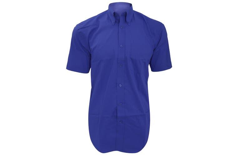 Kustom Kit Mens Short Sleeve Corporate Oxford Shirt (Royal Blue) (18inch)