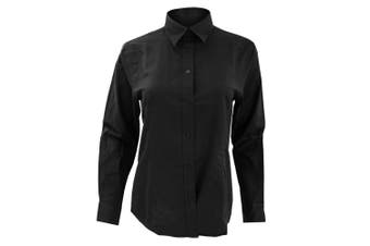 Kustom Kit Ladies Workwear Oxford Long Sleeve Shirt (Black) (24)