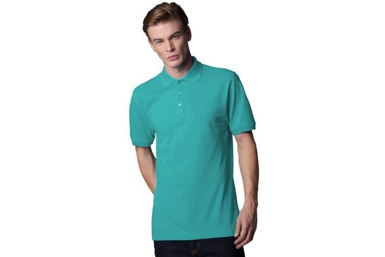 Kustom Kit Workwear Mens Short Sleeve Polo Shirt (Turquoise) (2XL)
