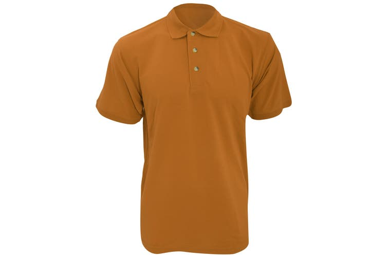 Kustom Kit Workwear Mens Short Sleeve Polo Shirt (Orange) (M)