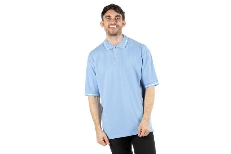Kustom Kit Mens St. Mellion Mens Short Sleeve Polo Shirt (Light Blue/White) (XS)
