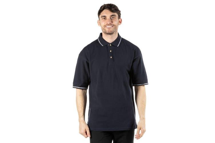 Kustom Kit Mens St. Mellion Mens Short Sleeve Polo Shirt (Navy/White) (XS)