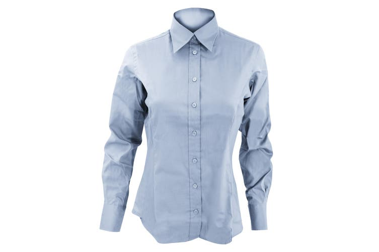 Kustom Kit Ladies Corporate Long Sleeve Oxford Shirt (Light Blue) (12)
