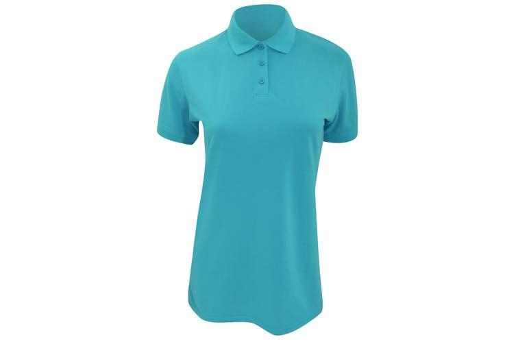Kustom Kit Ladies Klassic Superwash Short Sleeve Polo Shirt (Turquoise) (14)