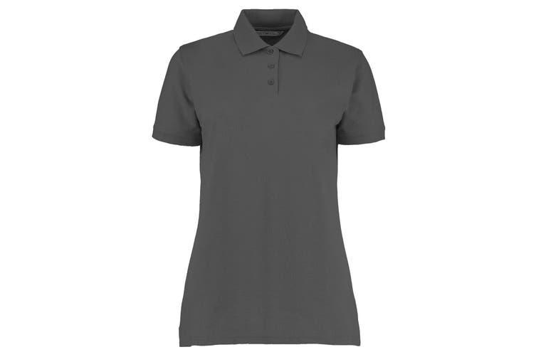Kustom Kit Ladies Klassic Superwash Short Sleeve Polo Shirt (Charcoal) (10)